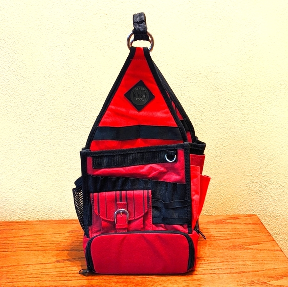 TOTE-ALLY COOL Red Scrapbook Craft Tool Organizer